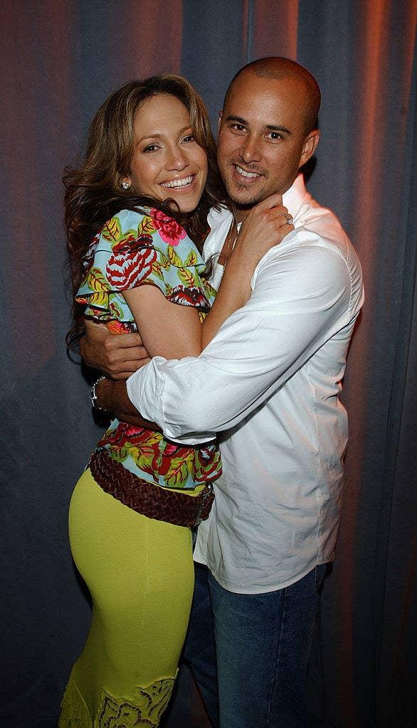 Jennifer Lopez and Cris Judd hugging it out