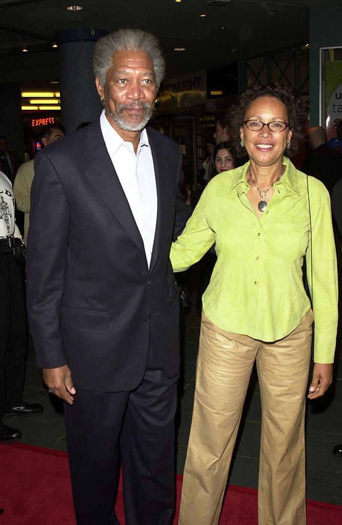 Morgan Freeman and Myrna Colley-Lee nine years before their divorce
