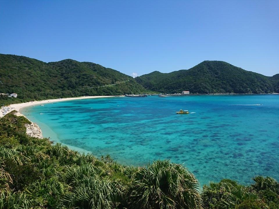 A tropical beach in Okinawa, Japan