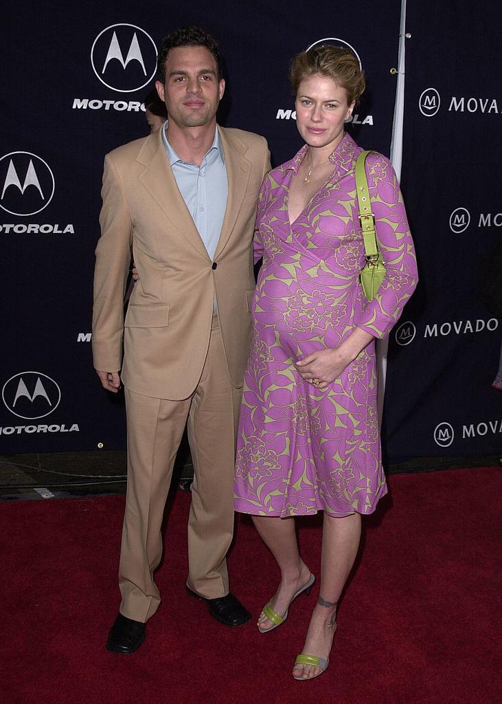 Mark Ruffalo and Sunrise Coigney on a red carpet