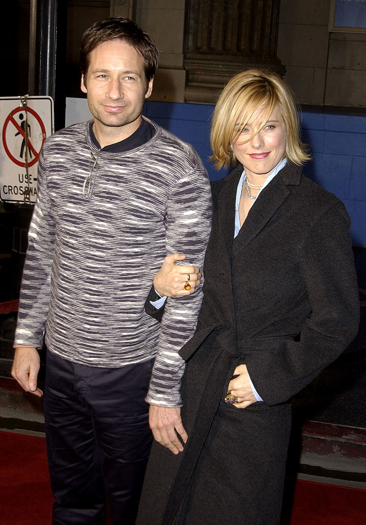 David Duchovny and Téa Leoni on a red carpet