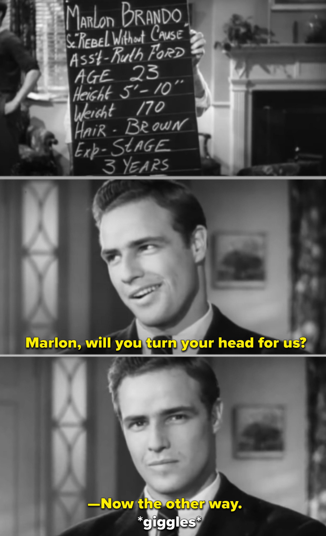 Marlon Brando's screen test