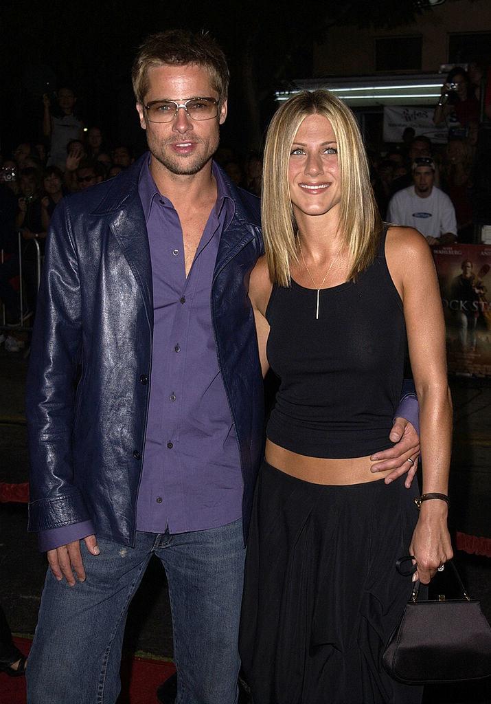 Brad Pitt and Jennifer Aniston at a place called Mann Village