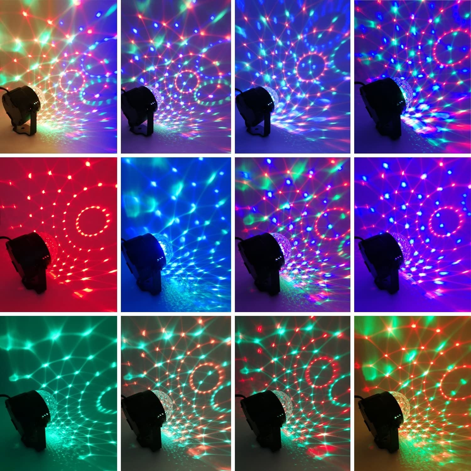The disco ball with different light projections