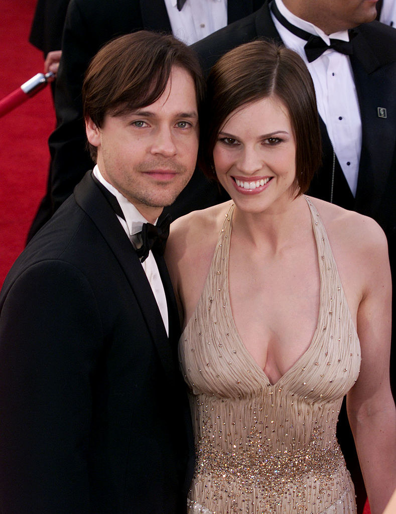 Chad Lowe and Hilary Swank when they were a couple