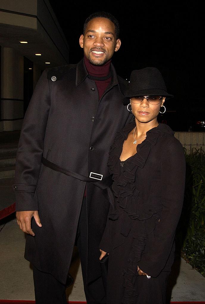 Will Smith and Jada Pinkett Smith wearing all black ensembles