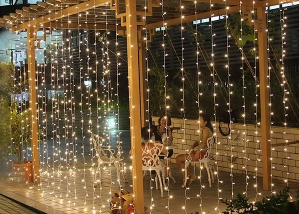 the lights on a pergola