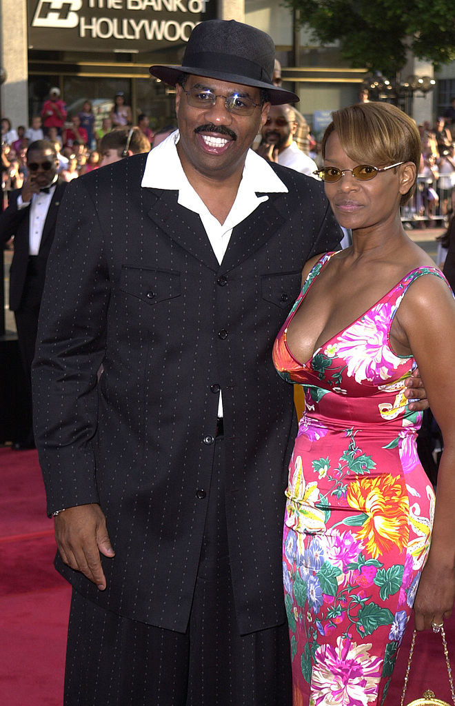 Steve Harvey and Mary Harvey when they were married