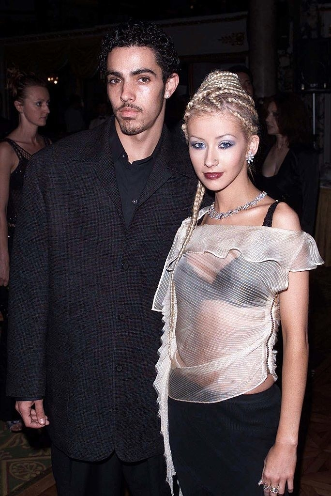 Jorge Santos and Christina Aguilera at the World Music Awards