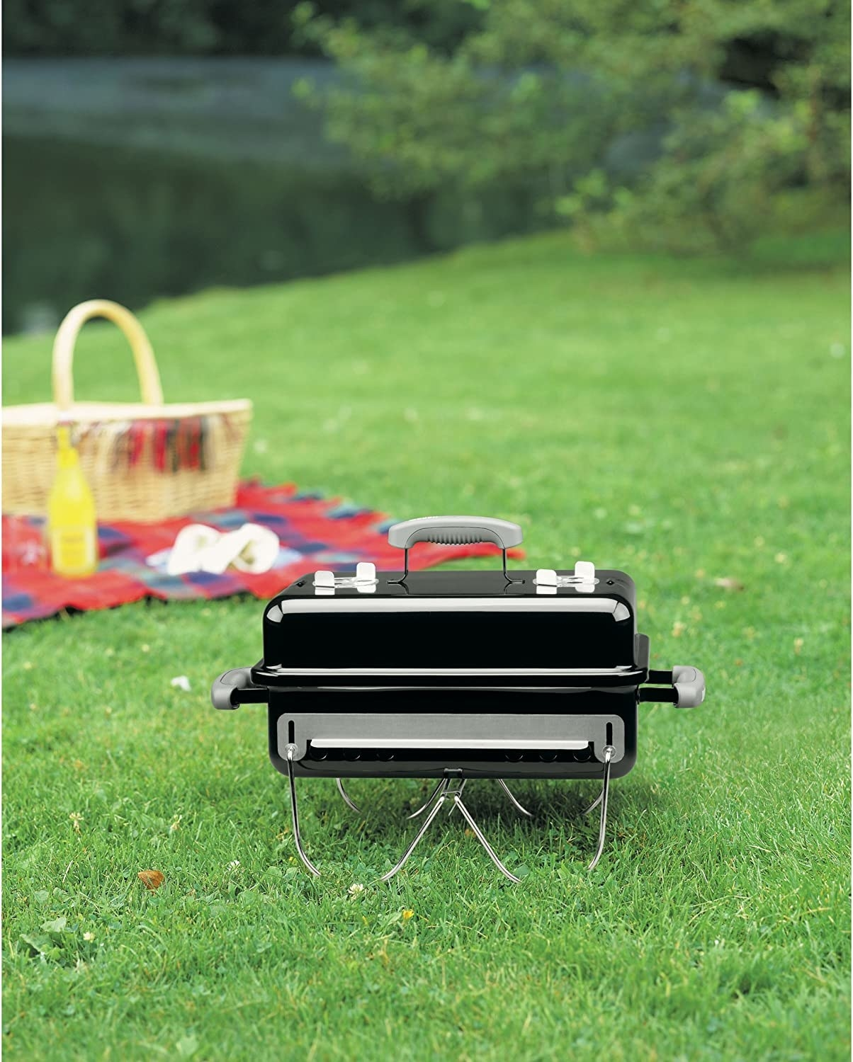 the grill on the grass