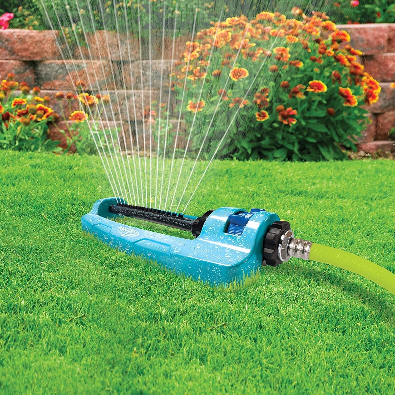 the sprinkler spraying water