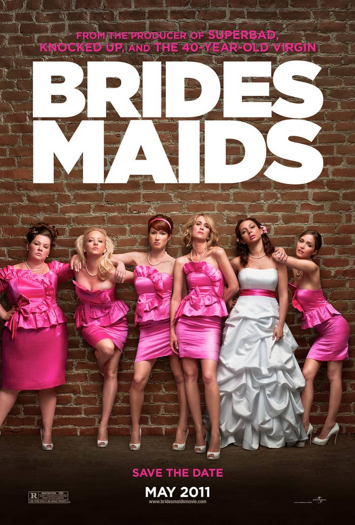 The cast poster for Bridesmaids
