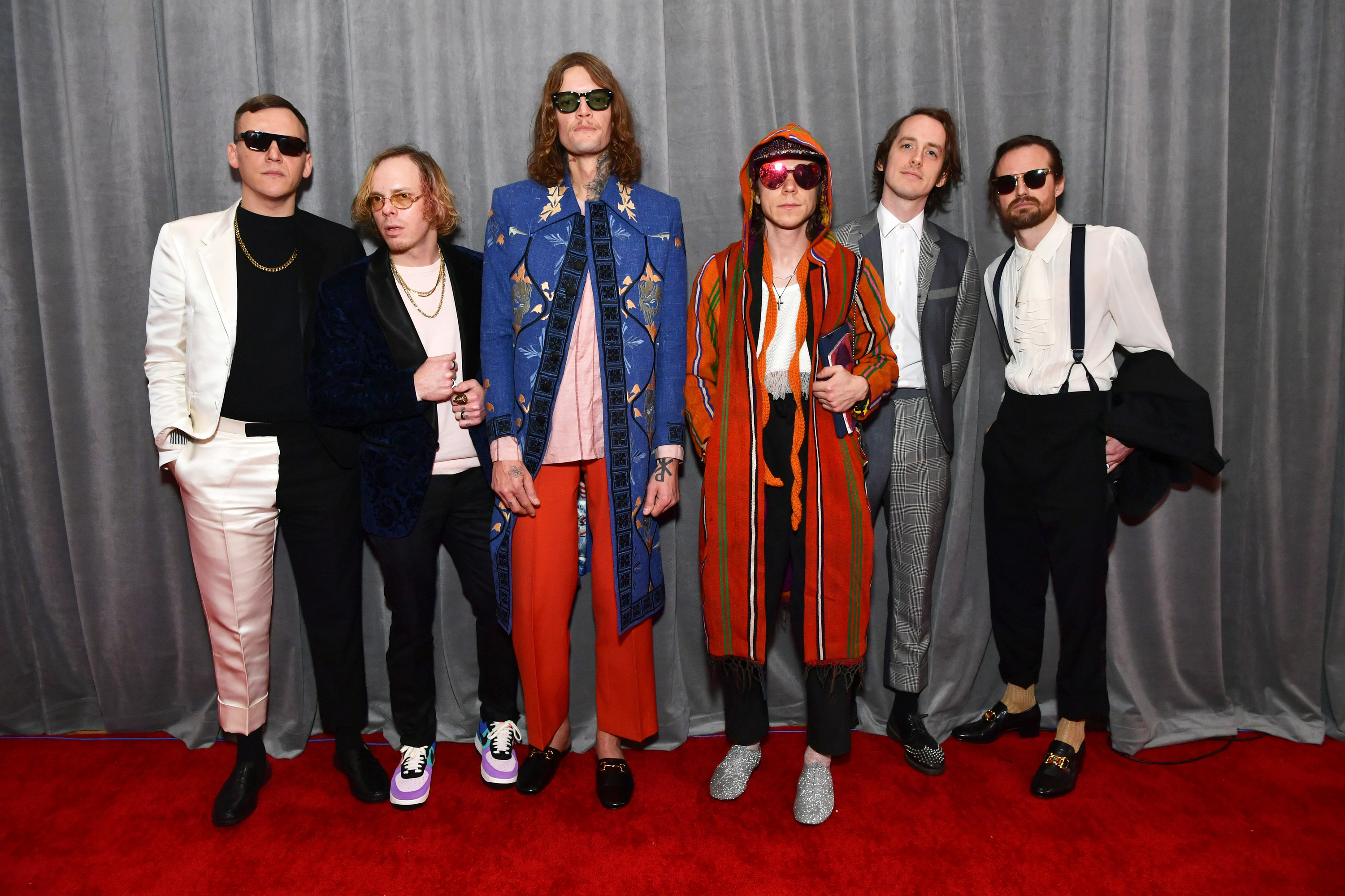 Photo of Cage the Elephant band members at a red carpet event