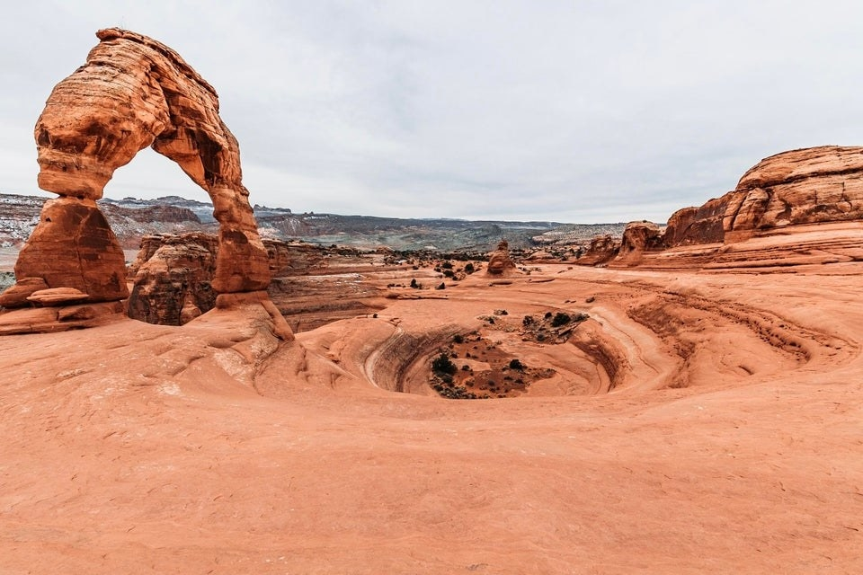 Arches National Park without any tourists