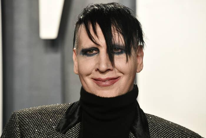 Marilyn Manson at the Vanity Fair Oscar Party in 2020