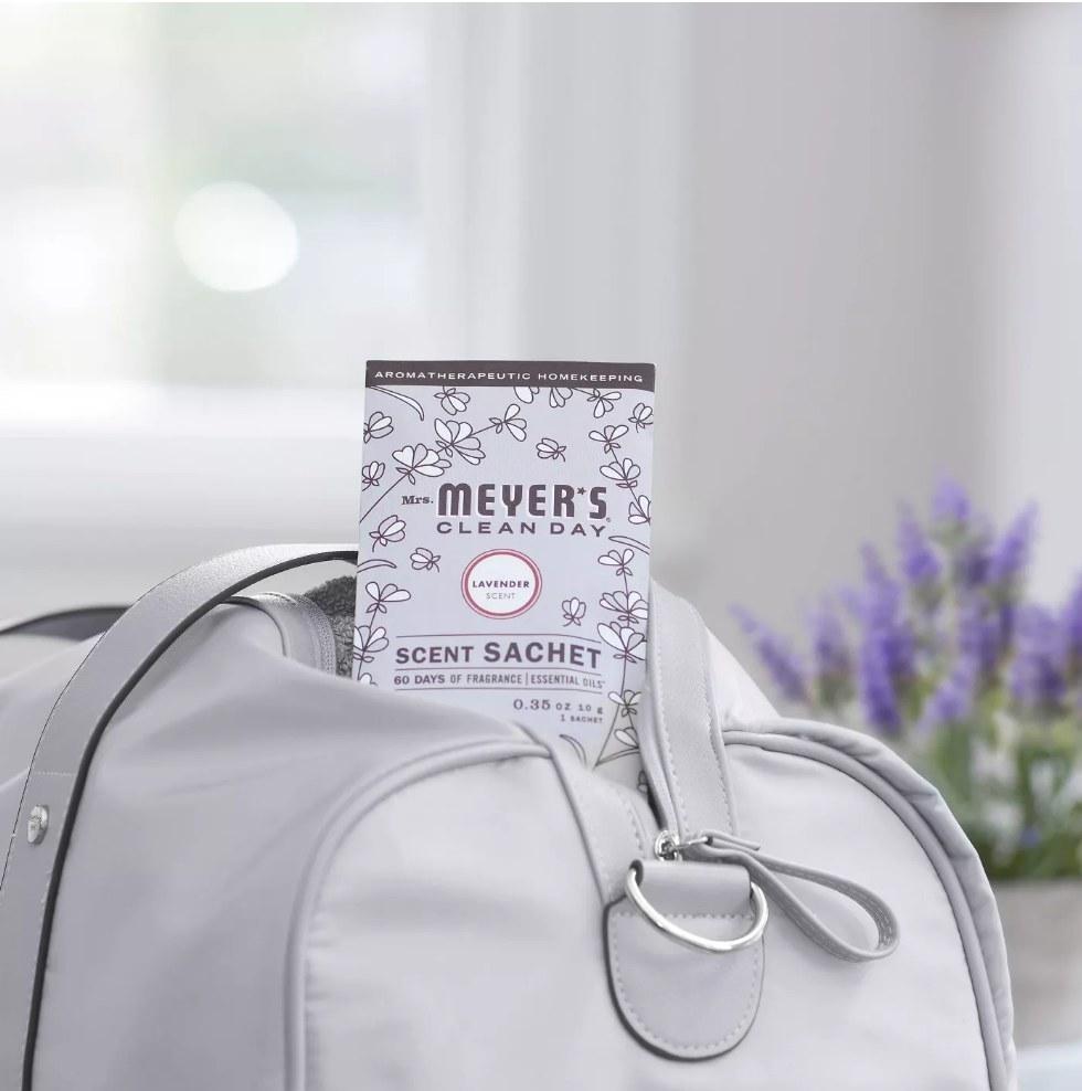 Meyer's scent sachet in purple bag