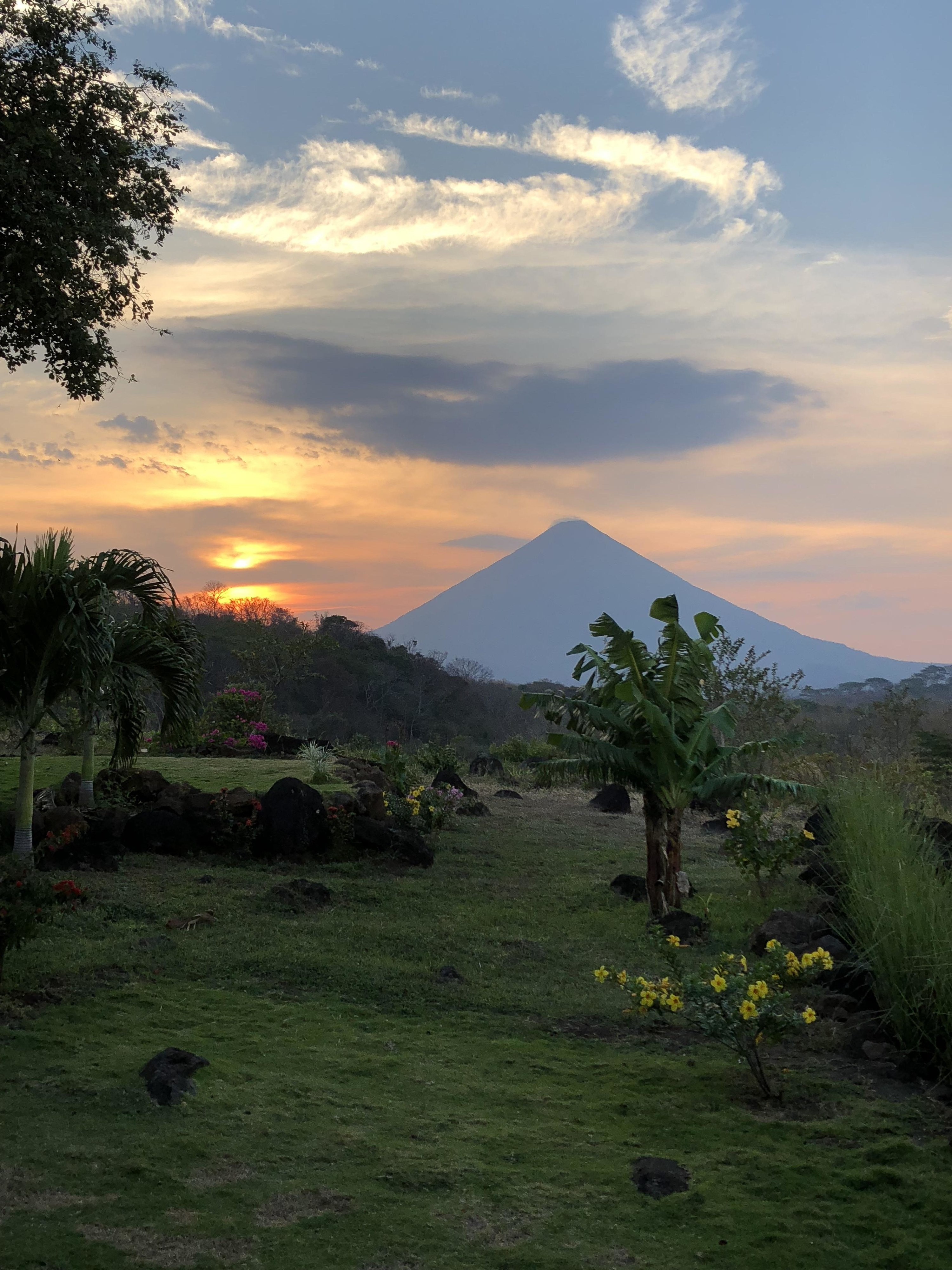 A view of Volcán Concepcíon on Ometepe Island, Nicaragua
