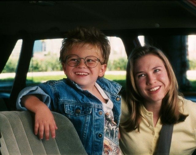 Renée Zellweger and Jonathan Lipnicki in Jerry Maguire