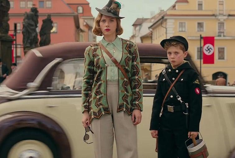 Scarlett Johansson and Roman Griffin Davis in Jojo Rabbit