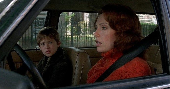 Toni Collette and Haley Joel Osment in a car in The Sixth Sense.