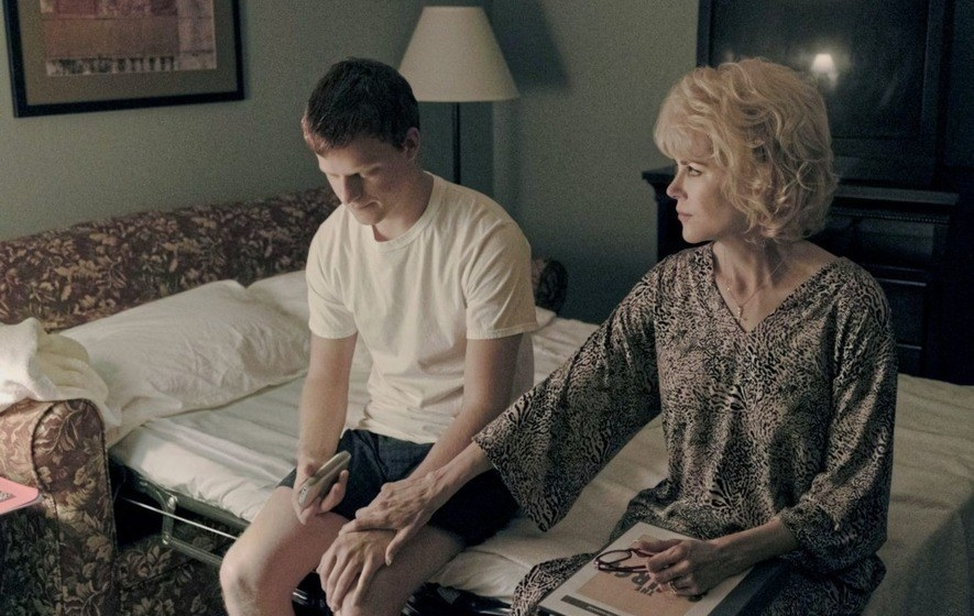 Lucas Hedges and Nicole Kidman in Boy Erased