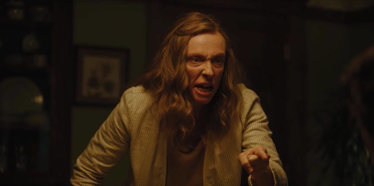 Toni Collette screaming in Hereditary