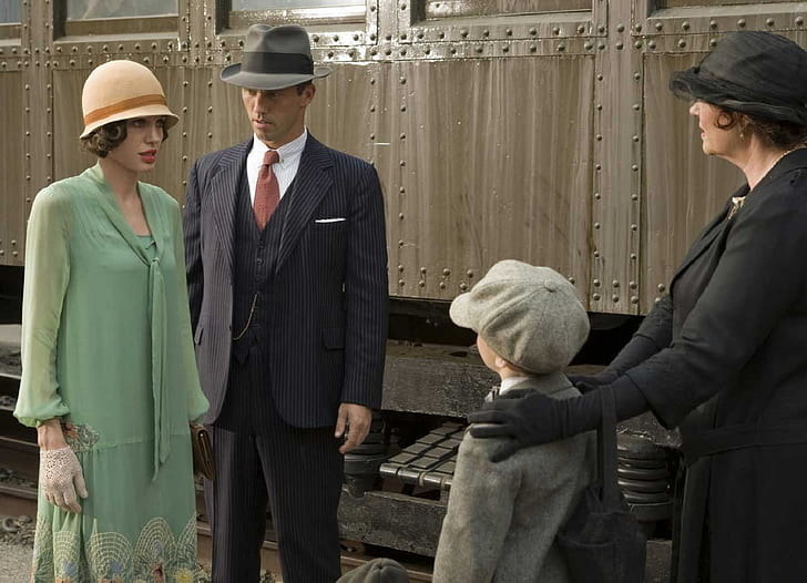 Angelina Jolie being shown her son in Changeling