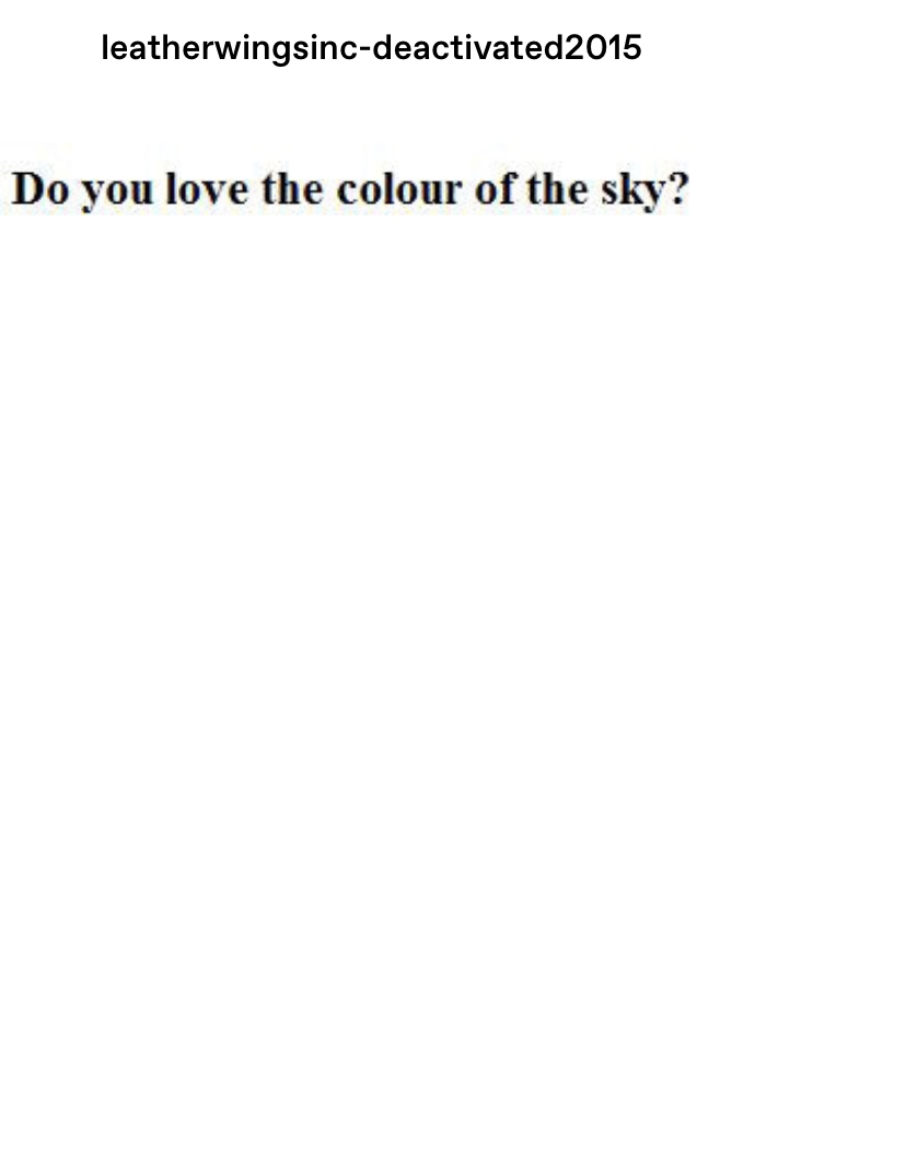 """""""do you love the color of the sky"""" with a sky gradient"""