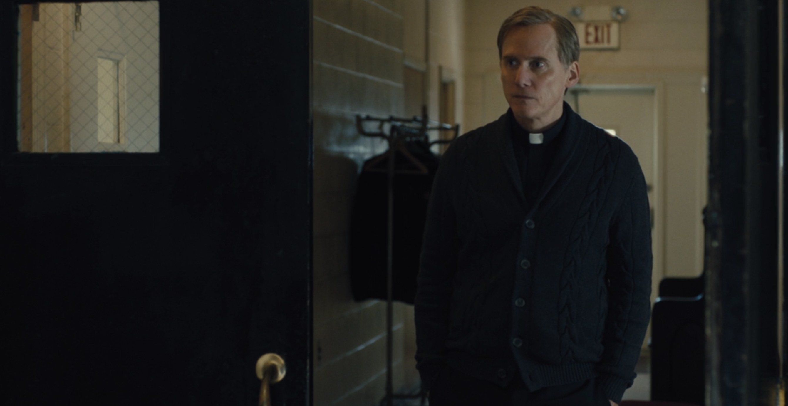 Father Dan Hastings looking concerned