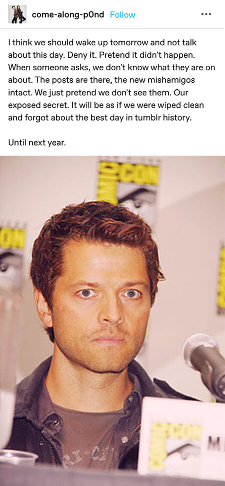 Suggestion saying they should pretend mishapocalypse never happened until the next year