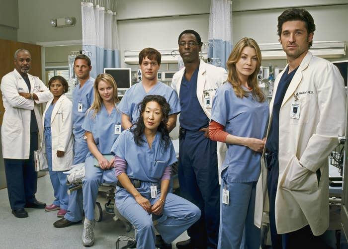 The original cast of Grey's Anatomy