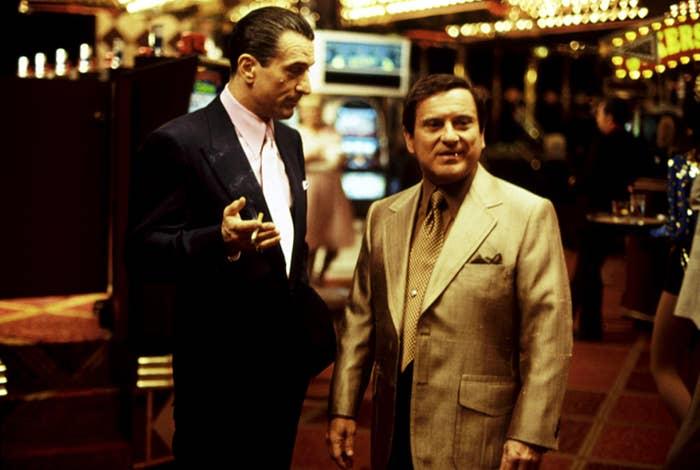 Robert De Niro, Joe Pesci, 1995, in the casino