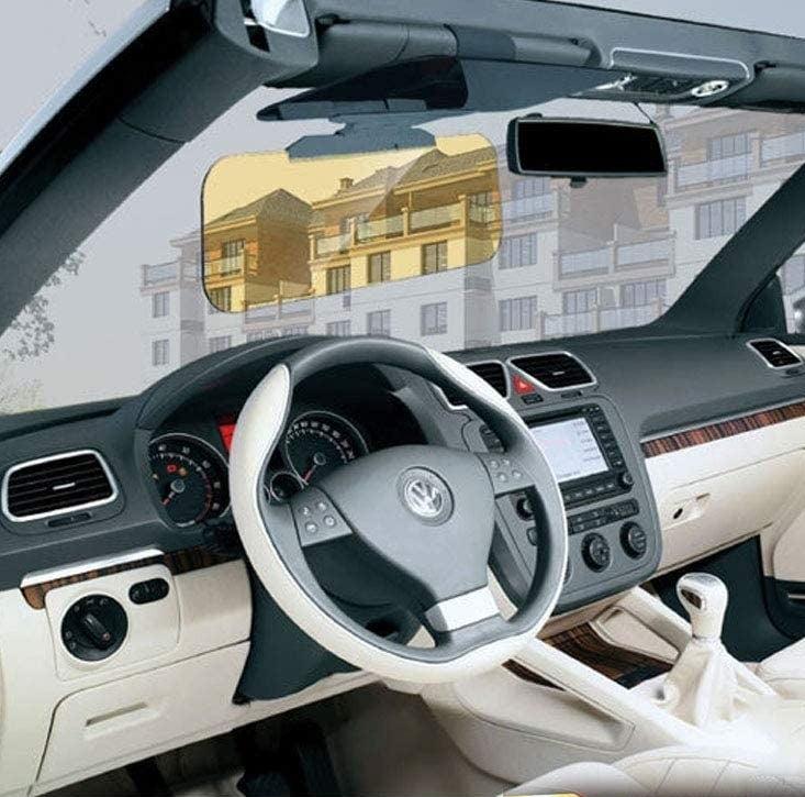 The anti-glare screen attached to a sun visor in a car