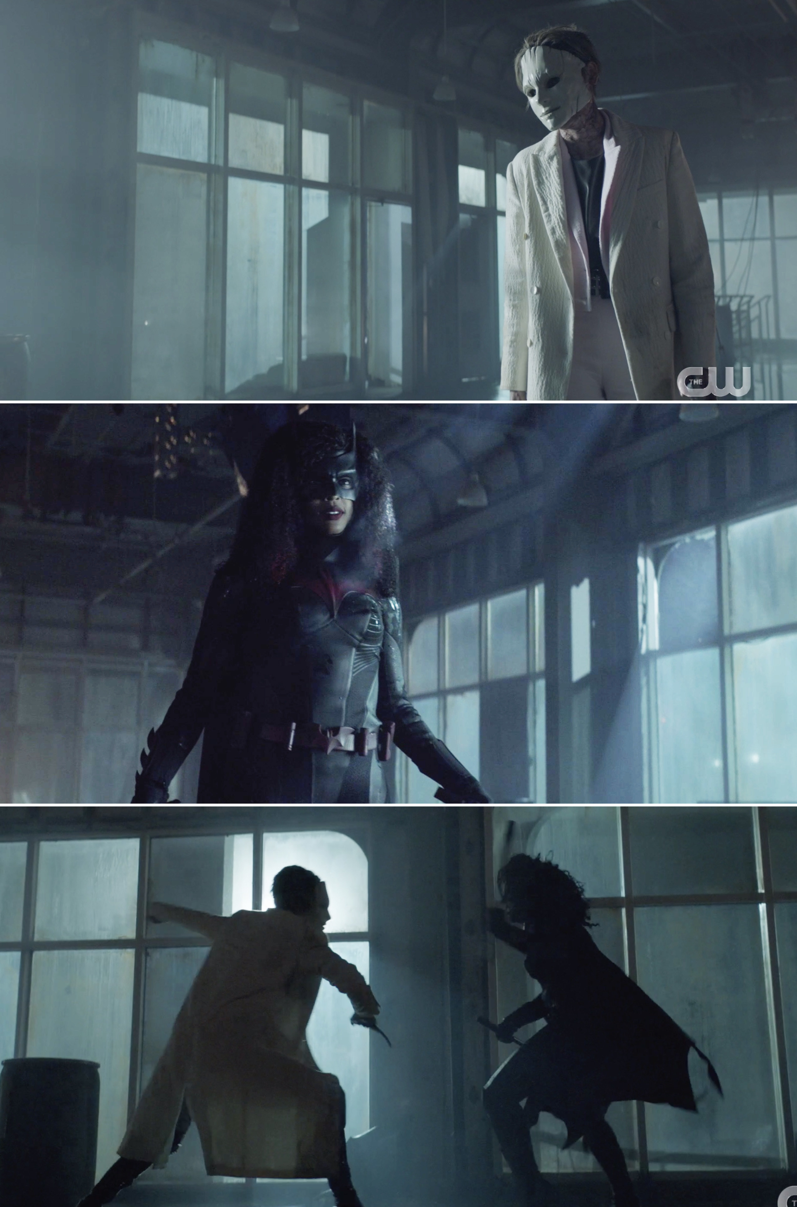 Kate as Circe fighting Ryan as Batwoman