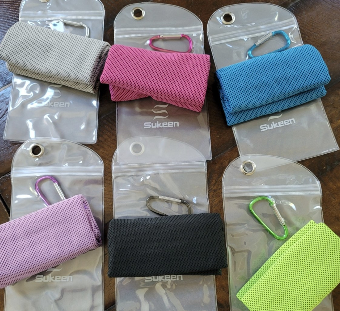 The towels in various colors