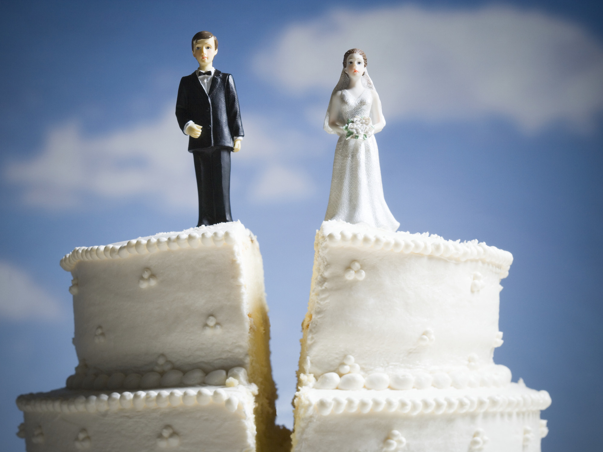 a wedding cake cut in half