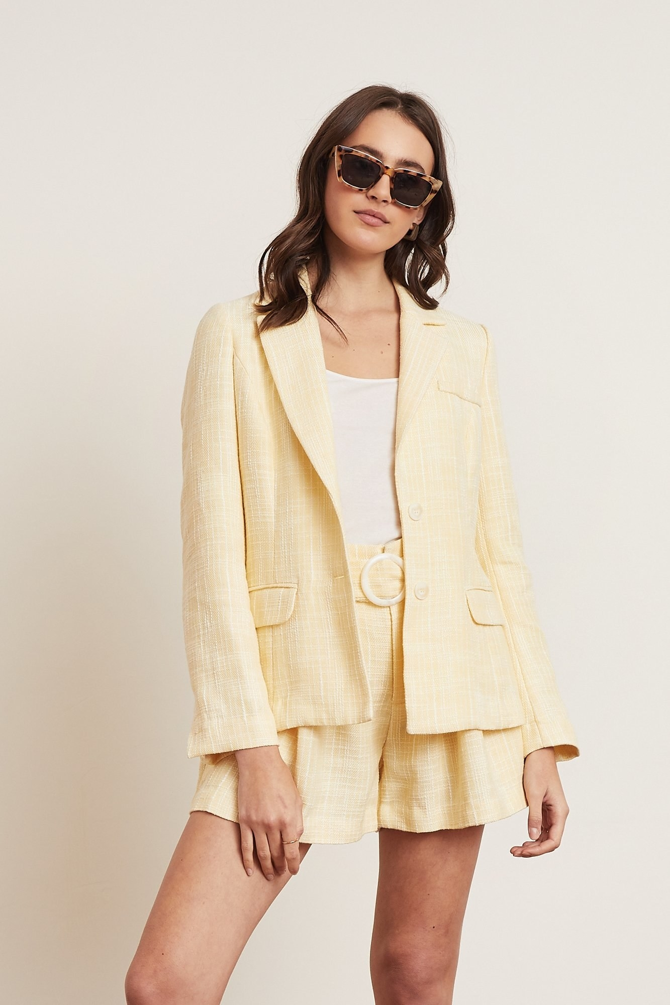 model in the yellow jacket