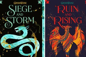 two of the grishverse book covers