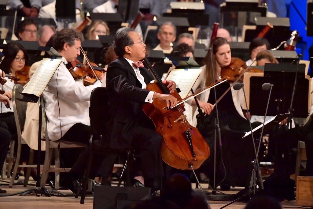 Yo-Yo Ma playing his 300-year-old cello