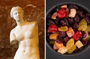 Venus de Milo and dried fruit