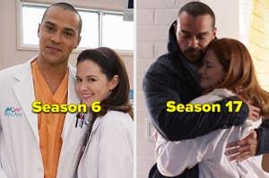 Jackson and April in Season 6 vs. Season 17 of Grey's Anatomy