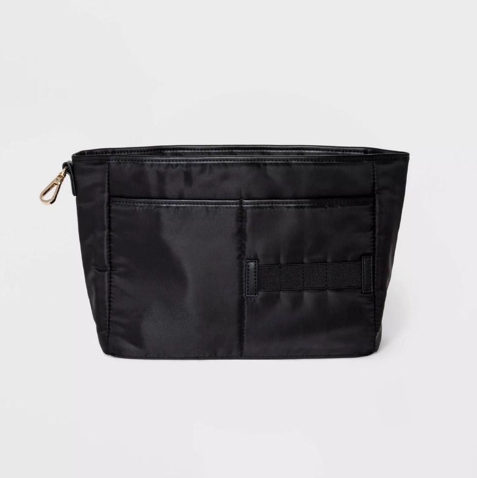 Black handbag organizer