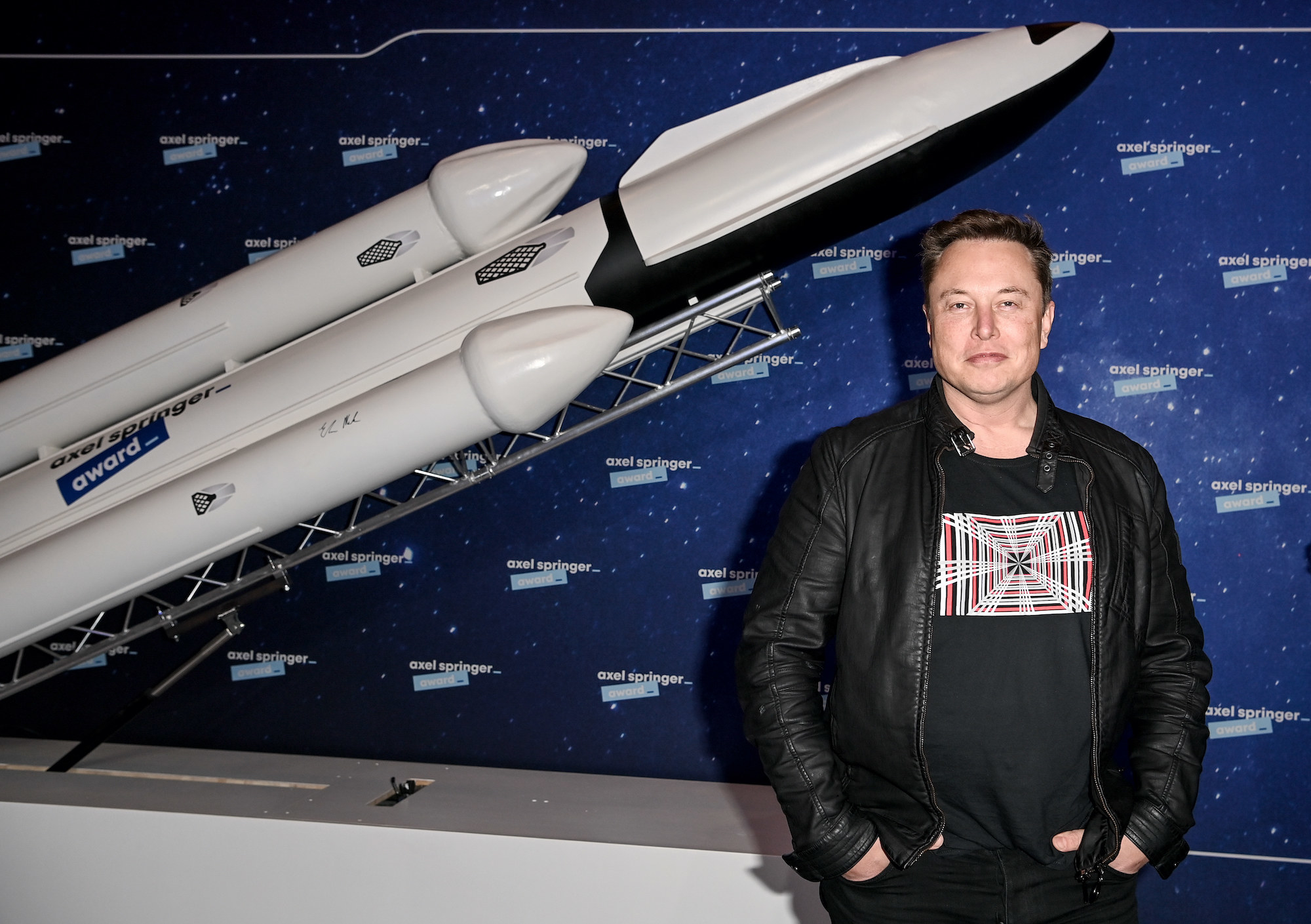 Musk on the red carpet of the Axel Springer Award in Berlin