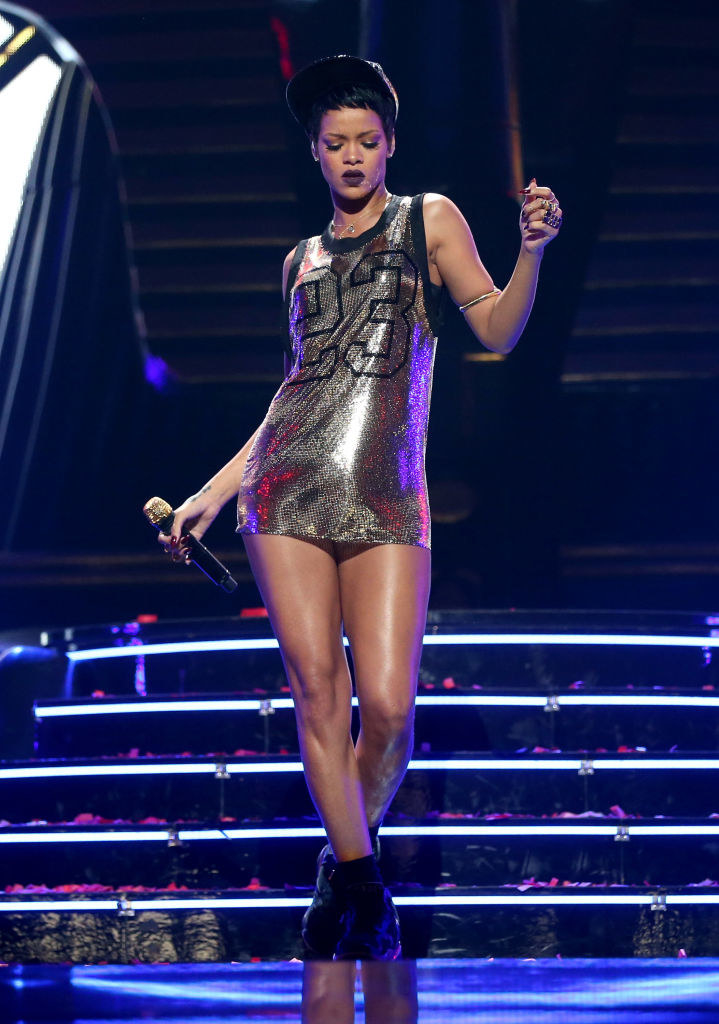 Rihanna performs onstage during the 2012 iHeartRadio Music Festival