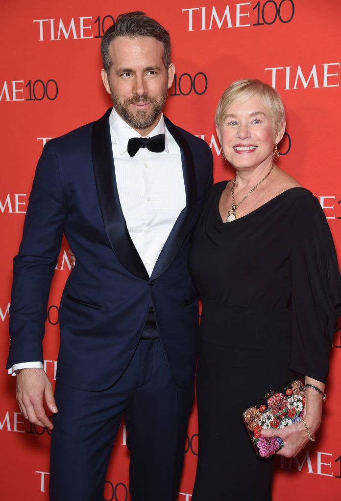 Ryan posing at the Time 100 event with his mother