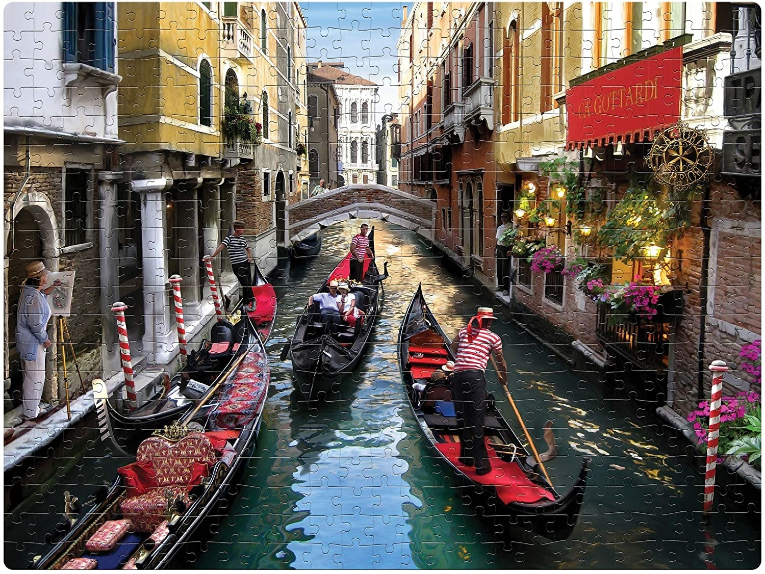 A puzzle with an image of Venice