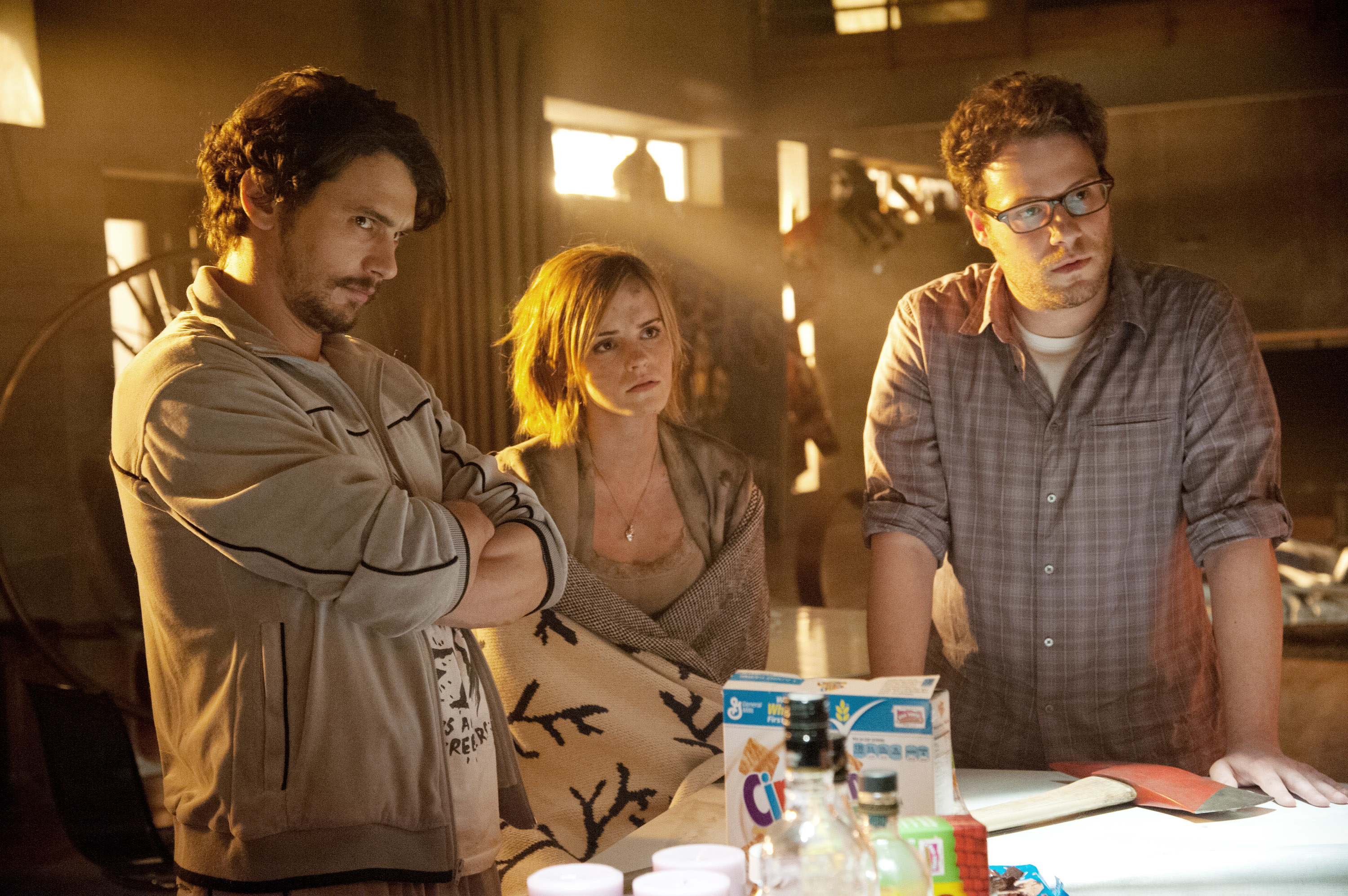 Franco, Emma Watson, and Rogen in This Is The ENd