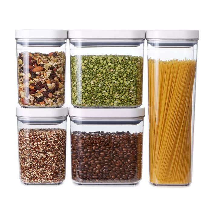 A set of 5 OXO containers
