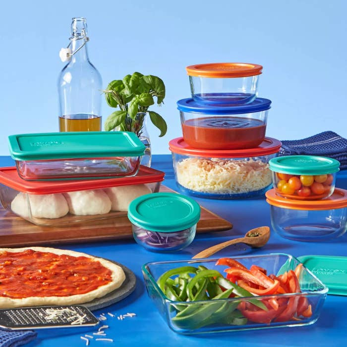 A set of Pyrex containers