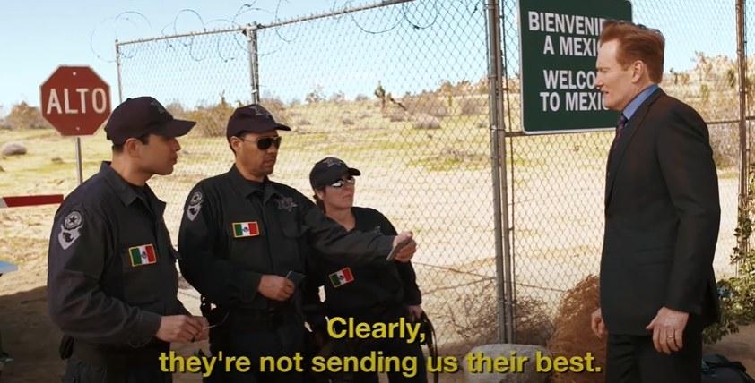 Conan at the Mexican border